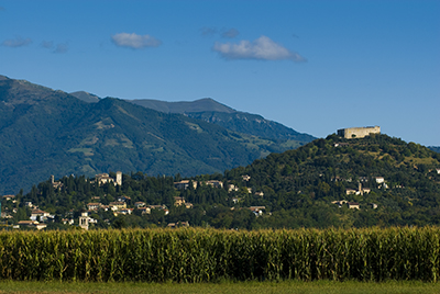 Italy, Asolo, Rocca and Grappa mountain